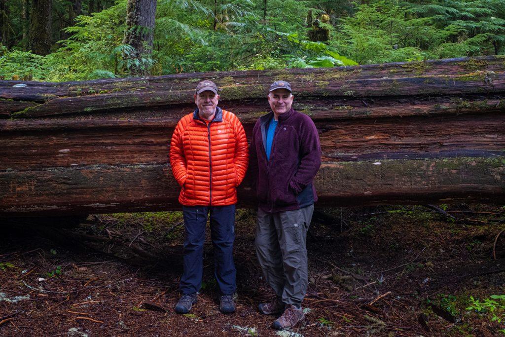 Jack graham and john pedersen in the forest